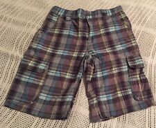 Old Navy Boys Size 10 Plaid Shorts Pre Owend