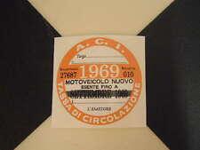 ITALIANO BOLLO 1969 - FIAT 500 600 126 LANCIA GIULIETTA BETA ALFA GTV ABARTH