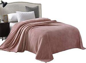 "Exclusivo Mezcla Large Flannel Fleece Velvet Plush Throw Blanket – 50"" x 70"" (Gr"