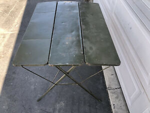 Vintage The Lincoln McGrew Machine Works 50s Table FOLDING Card Camping Table Rv