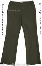 New Womens Marks & Spencer Autograph Smart Brown Trousers Size 14 Long DEFECT
