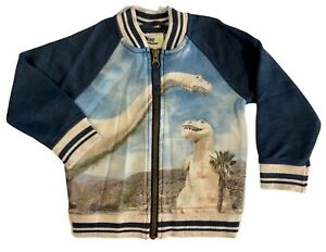 OshKosh Genuine Kids Toddler Boys' Blue Dinosaur Bomber Jacket
