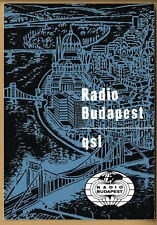 QSL CARD 1982 RADIO BUDAPEST HUNGARY FOREIGN LANGUAGE BROADCAST DEPARTMENT