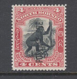 North Borneo Sc J13 MNG. 1901 4c Orangutan with POSTAGE DUE overprint, fresh.