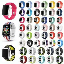 Strap Bracelet Band Sports Silicone Replace For Apple Watch 38mm/42mm S/M/L Lot