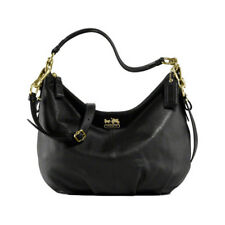 COACH MADISSON BLACK TWO WAY CONVERTIBLE LEATHER BAG