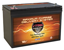 VMAX MR127 12V 100Ah Group 27 AGM Battery for Minn Kota Traxxis 45