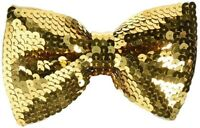 Glitter Sequin Bowtie Bow Tie Formal Elastic Band Halloween Costume Accessory