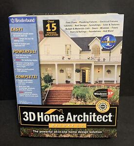 3D Home Architect Deluxe Version 5.0 Brøderbund Software Home Design Sealed