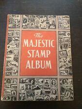 The Majestic Stamp Album Vintage Book 1959 Rare 175+ Postage Stamps