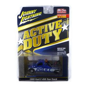 Johnny Lightning JLCP7255 Ford F-450 Tow Truck blau/weiss Maßstab 1:64 NEU!°