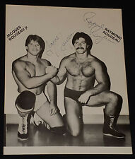1980's - WRESTLER /WRESTLING - THE ROUGEAU BROTHERS - AUTOGRAPHS PHOTO -ORIGINAL