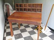 AWESOME EARLY CENTURY PLANTATION PINE DESK W/ TOP CUBBY