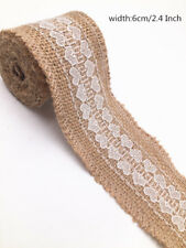 2M jute burlap with lace natural Hessian ribbon trim wedding width 6cm retro