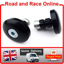 Pair Slim Black Flat Motorcycle Bar Ends Suit Renthal Handlebars