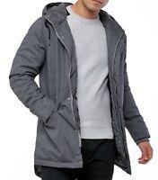 2nd Chapter Express Parka Hooded Jacket Teddy Fur Lined Hood Winter Coat Grey