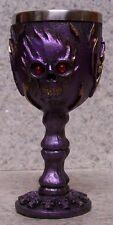 Wine Brandy Goblet Flaming Purple Face Halloween 3 oz NEW Stainless Steel Insert