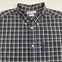 Columbia Button Up Shirt Men's XL Short Sleeve Multicolor Plaid Casual Cotton