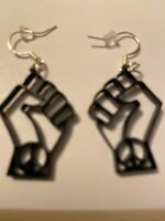 PEACE PROTEST SIGN Black Acrylic Punk Earrings,Boho,Bohemian,Witch,Goth,Gothic