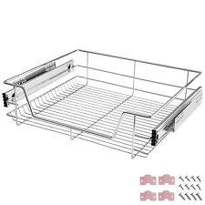 Panier de rangement coulissant cuisine meuble pour placard étagère tiroir 60 cm