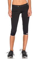 Adidas Stella McCartney 3/4 black tights capri gym running yoga fitness sport