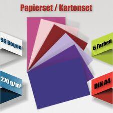 Kartonset A4, 96-tlg., 270 g/m² ~ Basteln Bastelkarton Kartenkarton ~ #27004