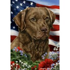 Patriotic (1) House Flag - Chesapeake Bay Retriever 16701