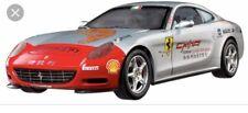 1/18 Scale Hot Wheels Ferrari Elite Silver Diecast Metal 612 Scaglietti in Box