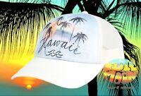 New Billabong Hawaii Palm Tree Sunset Womens Trucker Snapback Cap Hat