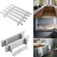 Stainless Steel Hollow Kitchen Door Cabinet T Bar Handle Pull Knob