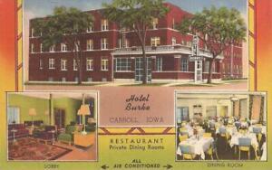 Carroll, IOWA - Hotel Burke - ADVERTISING MULTIVIEW