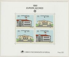 Europa CEPT 1990 Azoren Blok 11 Cataloguswaarde € 12