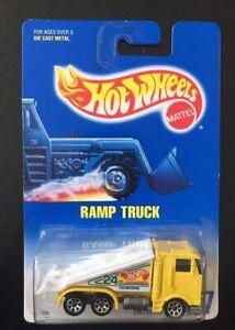 HOT WHEELS 1992 RAMP TRUCK COLLECTOR #187 YELLOW NEW UNOPENED