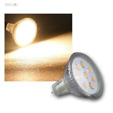 Mr11 emisor bombilla, 8 SMD LED blanco cálido, 140lm, 12v/2w, pera spot lámpara