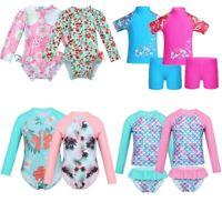 Kids Girls Baby Swimsuit Swimwear Bathing Suit Rash Guard Outfit UV Protection