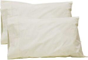 100% Cotton Percale Sheets Queen Size, White, Deep Pocket, 4 Piece - 1 Flat, 1 D