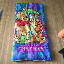 Vintage Winnie the Pooh Best Friends Kids Sleeping Bag - Camping Sleepovers