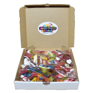 Pick N Mix Box Hamper 1kg Large Retro Fizzy Jelly Chocolate Candy Gift Ideas