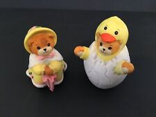 Lucy & Me/Lucy Rigg Easter Dress Bear & Duck in Egg; Free Priority Shipping!