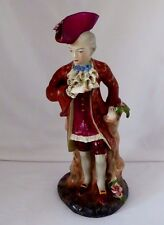 "Tall Cordey Gentleman Handsomely Dressed in Lace Ascot + Blue Bow. 13.5"". 1940"