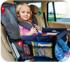 Kinder Blau Auto Reisetisch Kindersitz Spieltisch Esstisch Netztaschen Zubehör