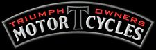 Triumph owners club Motorcycles Rocker XL PATCH Aufnäher Parche brodé patche