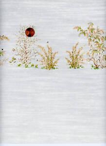 Dollhouse Wallpaper / 3 Sheets Mini Springtime Gray