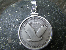 SOARING EAGLE SILVER QUARTER PENDANT Made in USA Precision Crafted 90% Silver