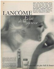 PUBLICITE ADVERTISING 054 1963 LANCOME Abyssale et Frescabel démaquillant