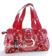 GUESS GLOSS Red handbag bag satchel purse red NWT G logo