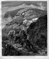 DEAD MULE TRAIL IDAHO CLEARWATER MOUNTAINS PACK MULE ARMY OFFICER WITH SORE FEET
