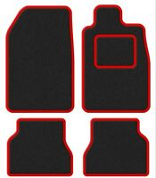Renault Clio Mk2/Clio Sport/Kangoo-Van 98-04 Super Velour Black/Red Trim Car mat