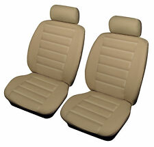BMW 3 5 SERIES Cosmos Leatherlook Universal Front Car Seat Covers BEIGE