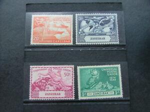 Zanzibar 1949 UPU Issue SG335-338 MM